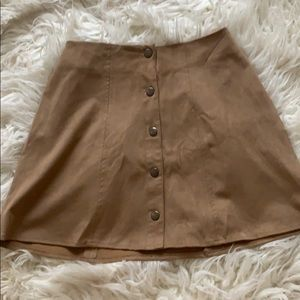 Kendall and Kylie Suede Tan Skirt
